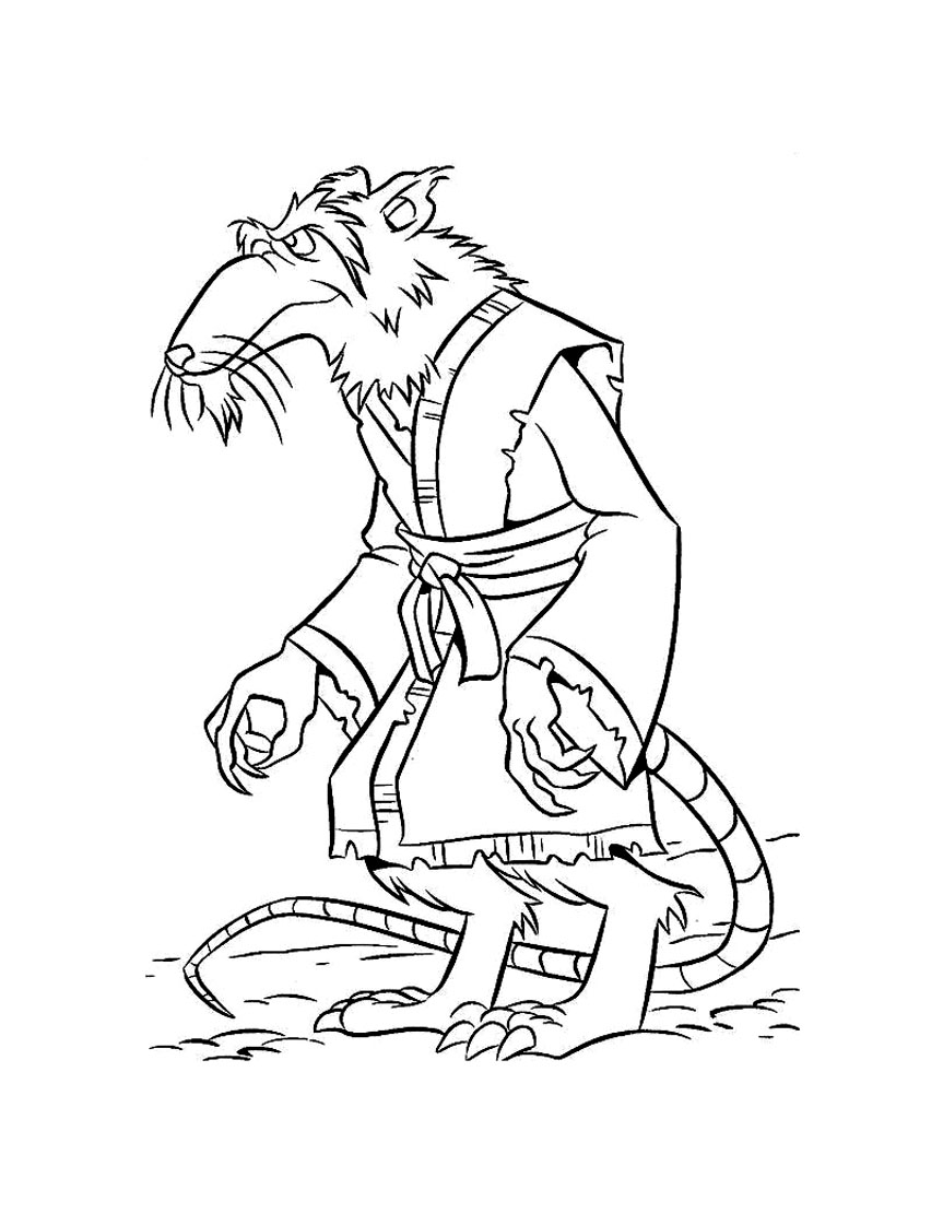 Simple Ninja Turtles coloring page for children