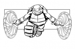 Coloring page ninja turtles to print for free