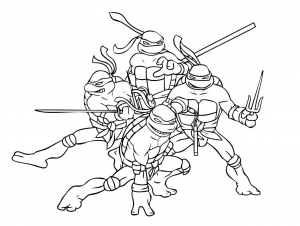 Coloring page ninja turtles to download