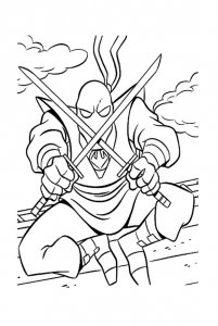 Coloring page ninja turtles to color for kids