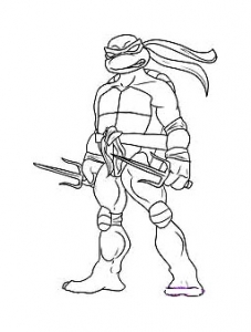 Coloring page ninja turtles free to color for kids