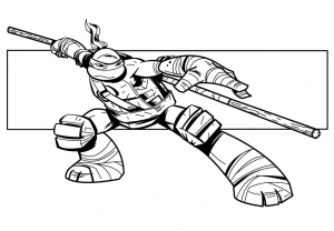 Coloring page ninja turtles to color for children