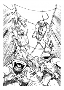 Coloring page ninja turtles for kids