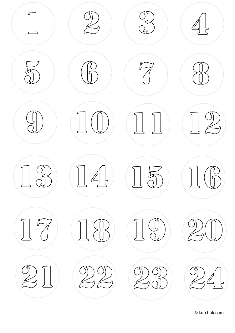 Numbers to print - Numbers Kids Coloring Pages