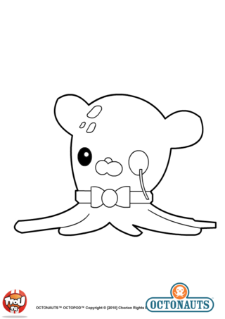 Incredible Octonauts coloring page to print and color for free