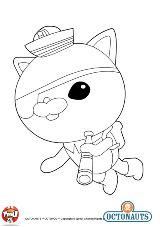 Funny Octonauts coloring page for children