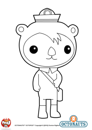 Simple Octonauts coloring page to download for free