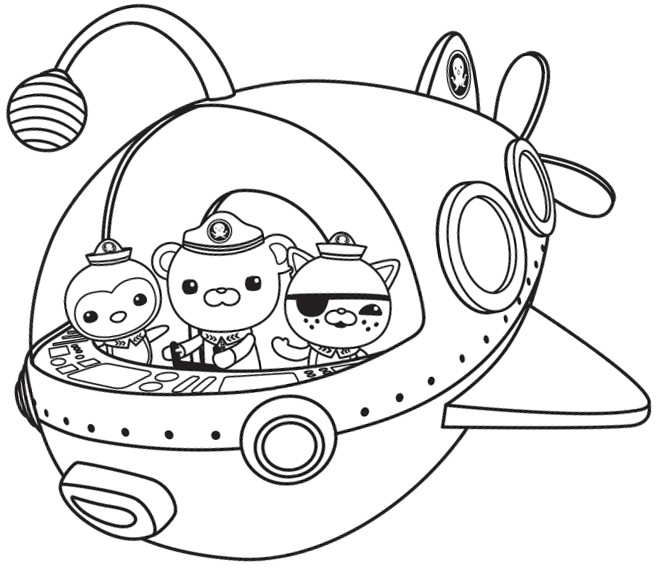 Free Octonauts coloring page to print and color