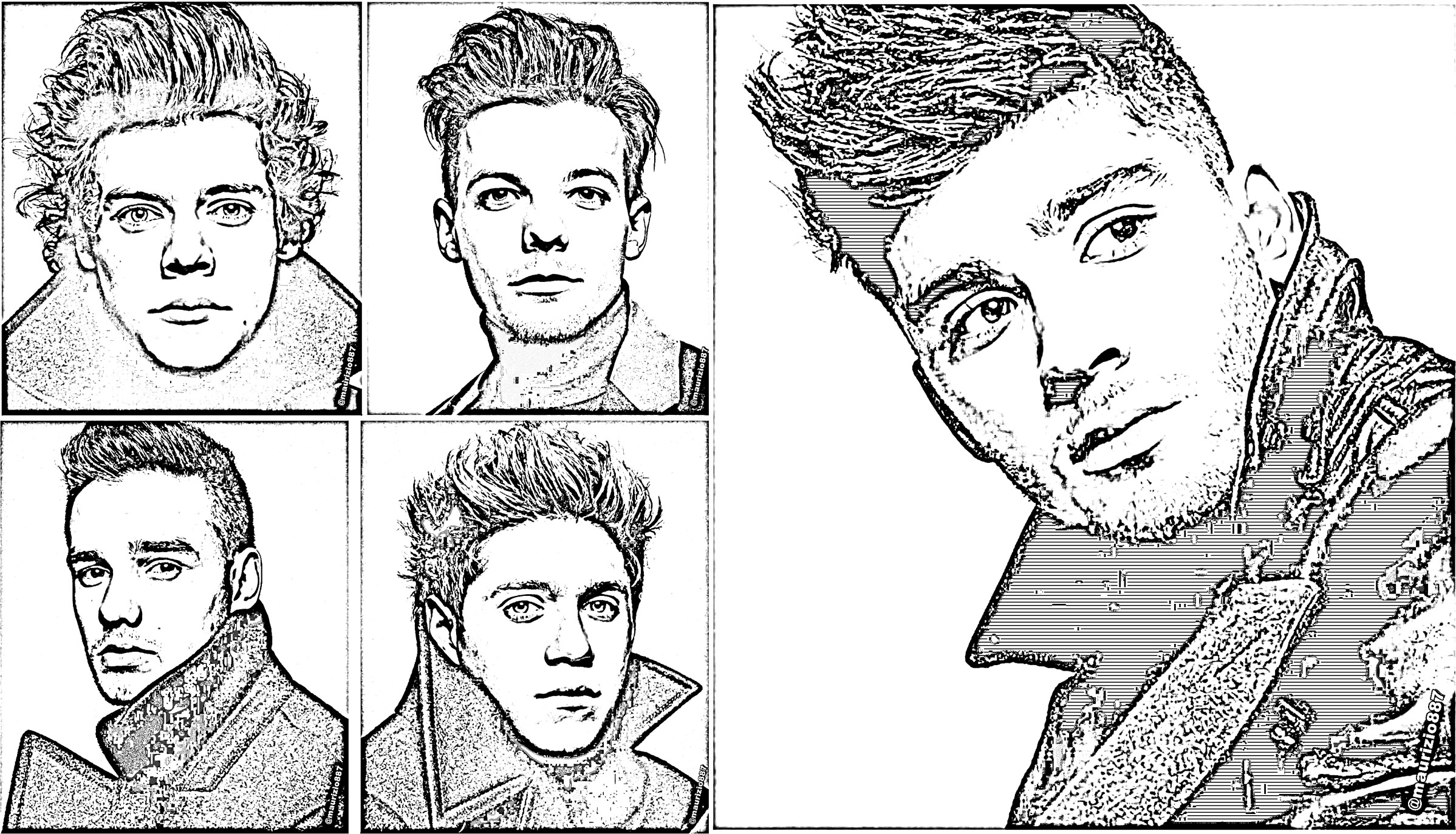 one direction coloring pages cartoon animals | One direction free to color for kids - One Direction Kids ...