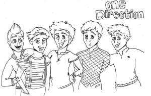 Coloring page one direction for kids