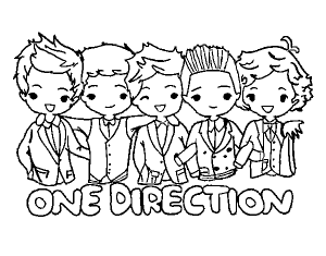 Coloring page one direction to download for free