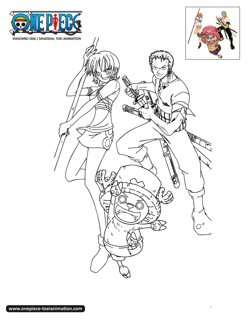 One Piece coloring page to print and color