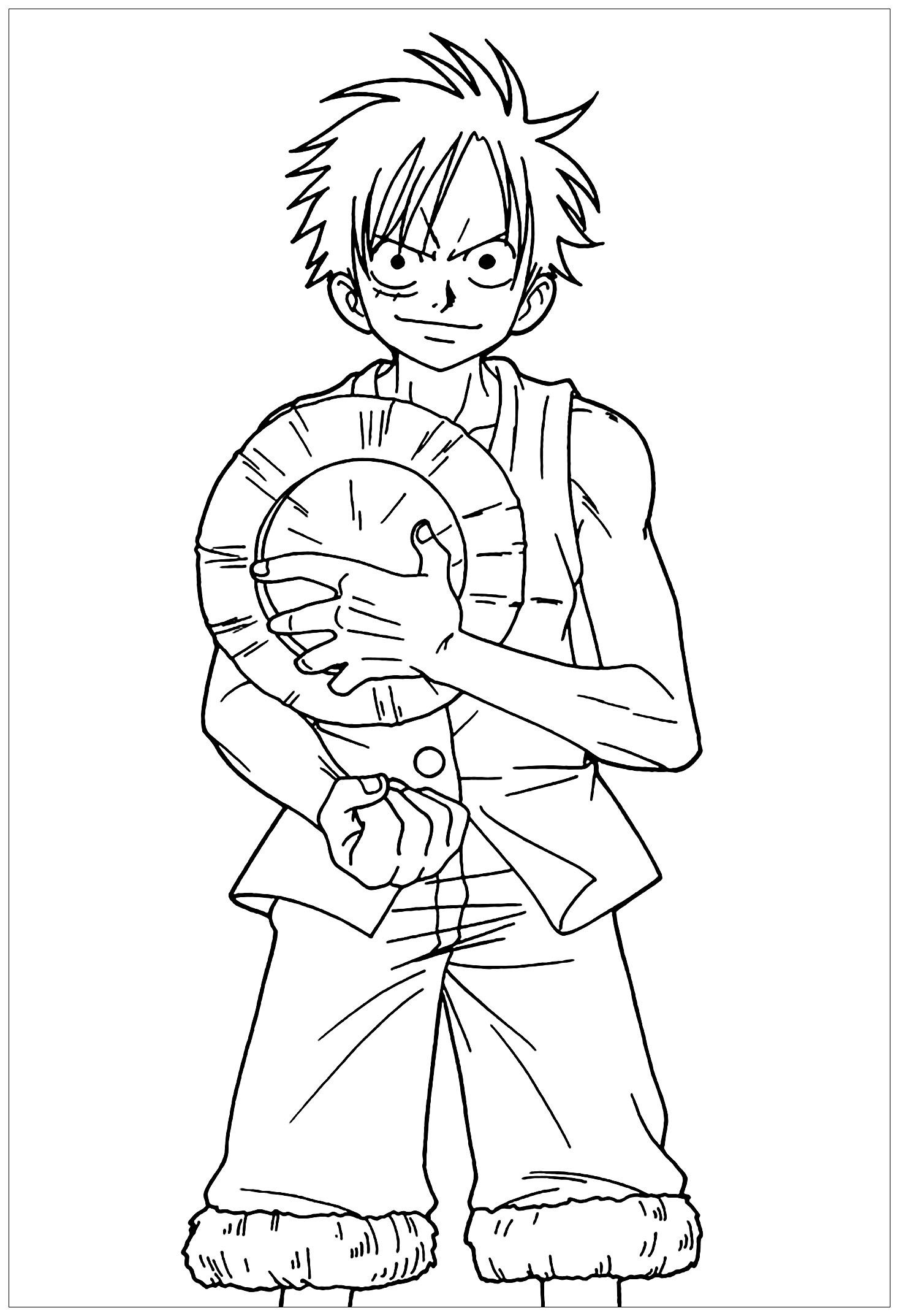 Funny One Piece coloring page for children