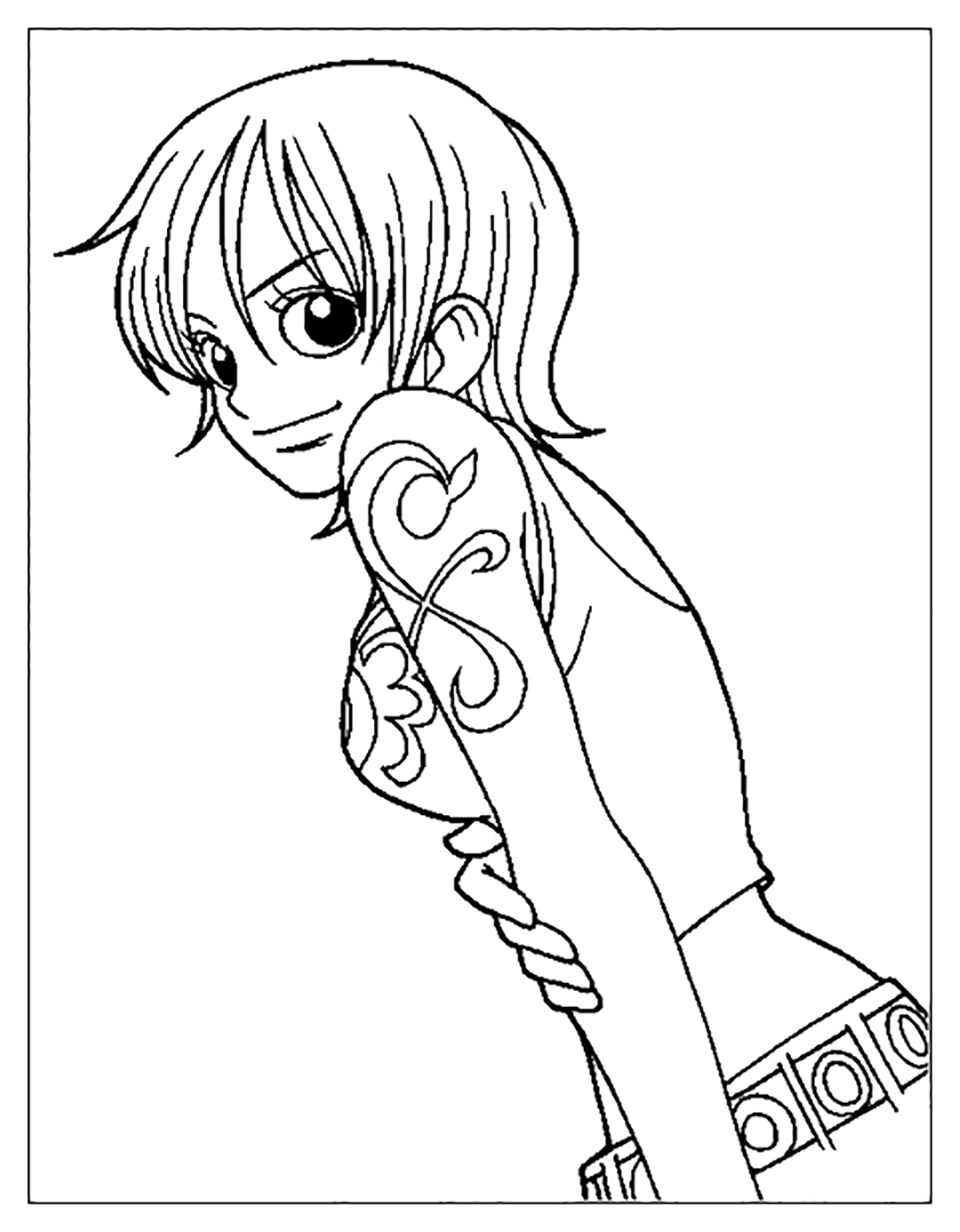 Free One Piece coloring page to print and color, for kids