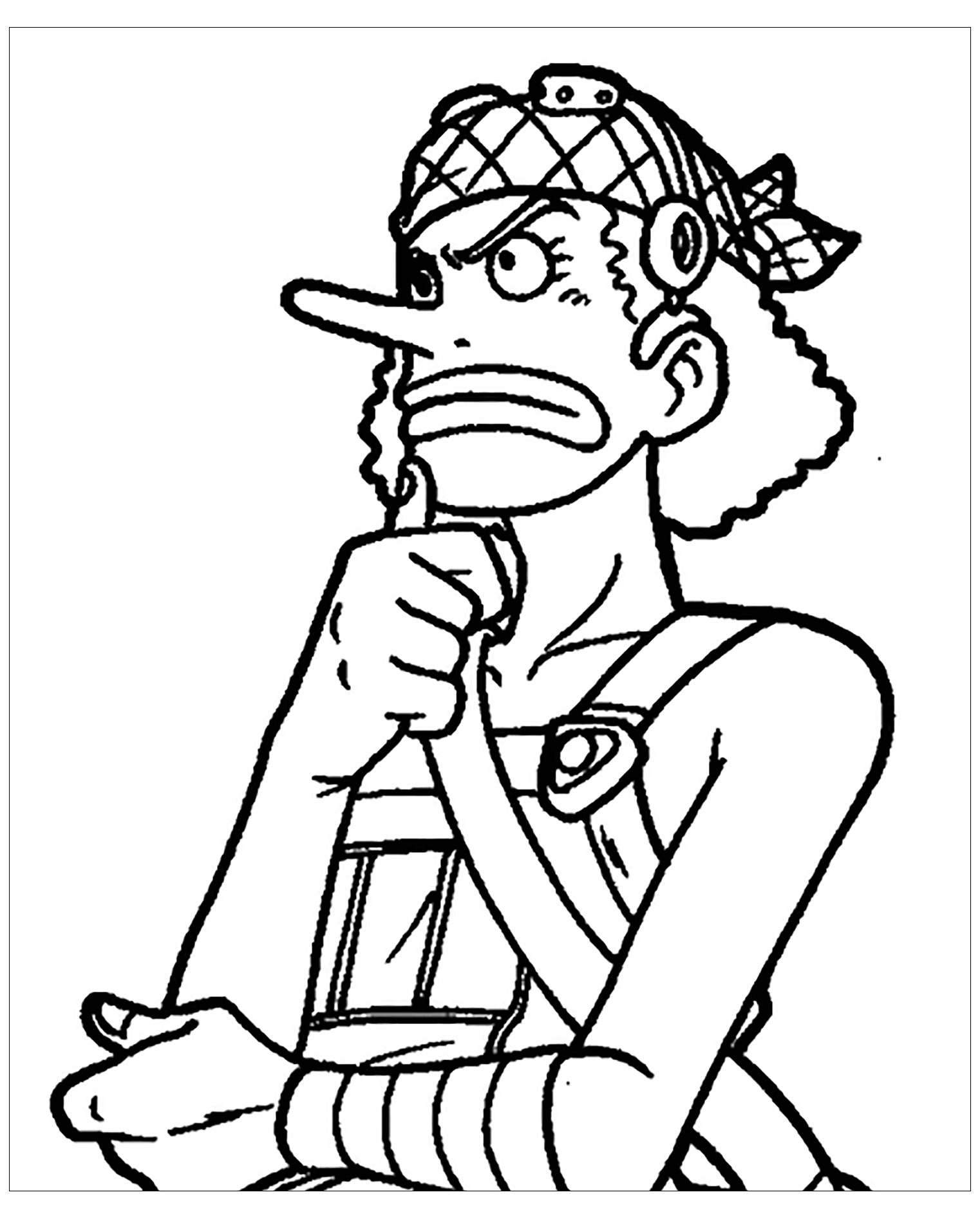 One Piece coloring page to download
