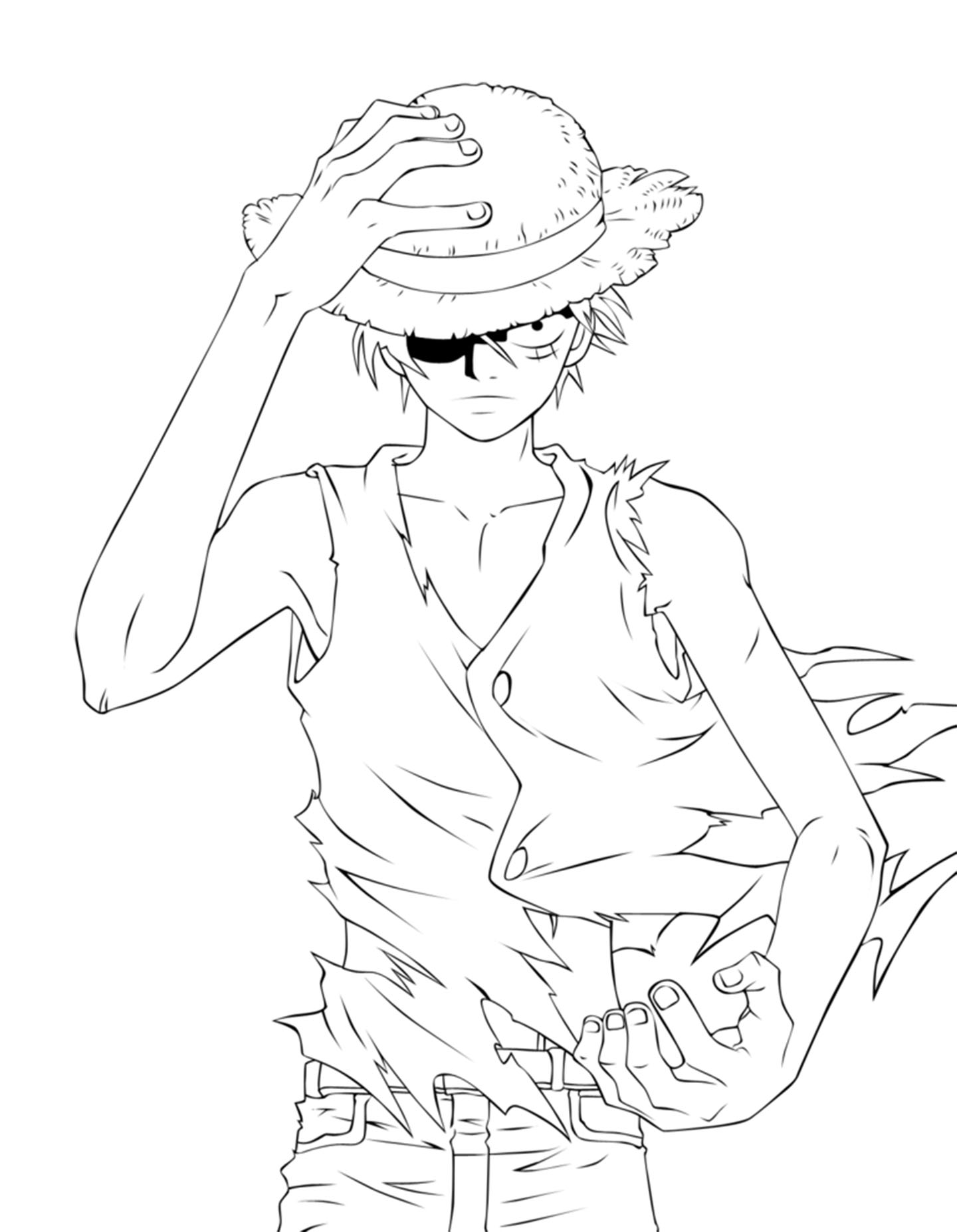 Simple One Piece coloring page to download for free