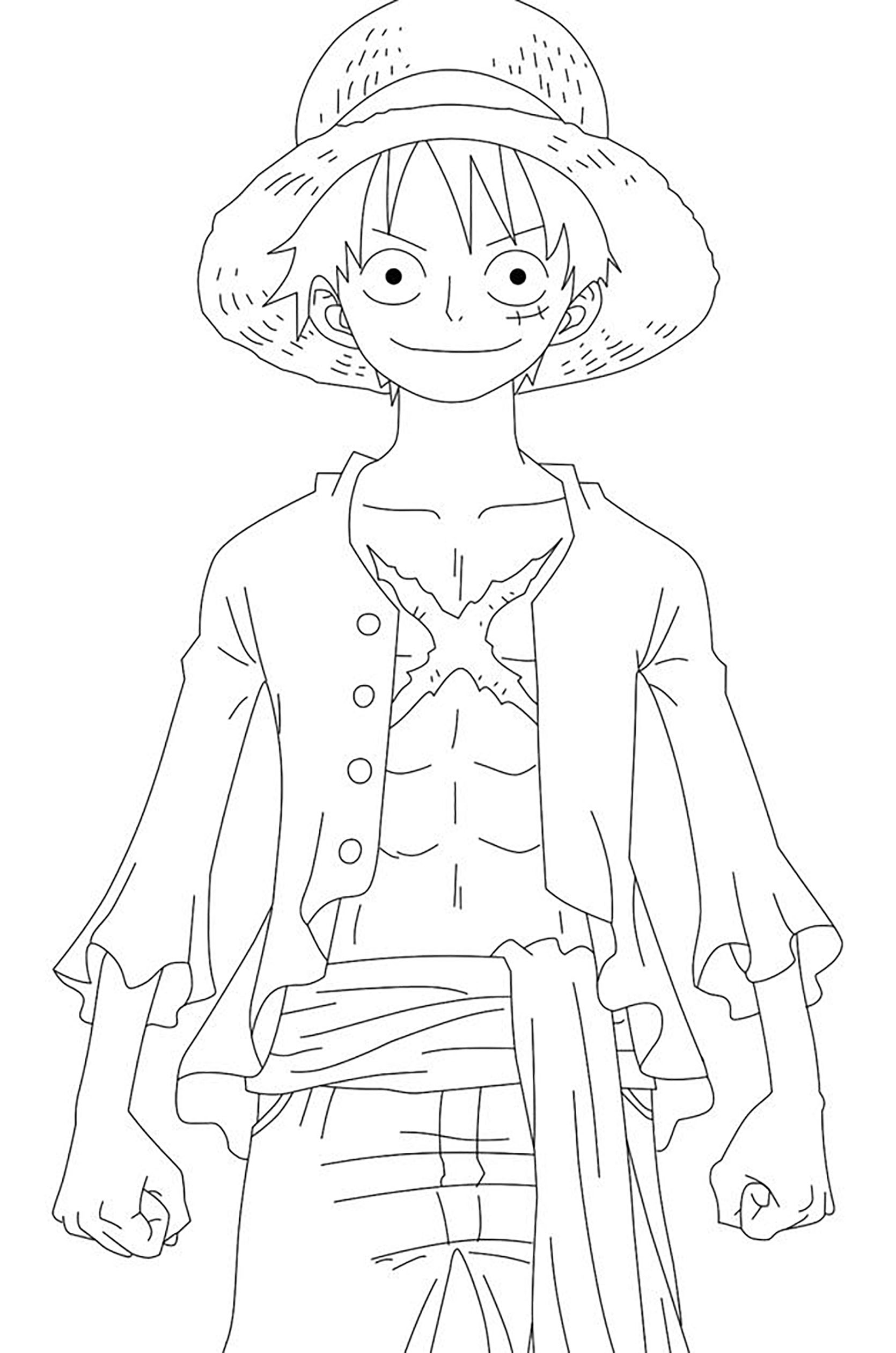 Free One Piece coloring page to download