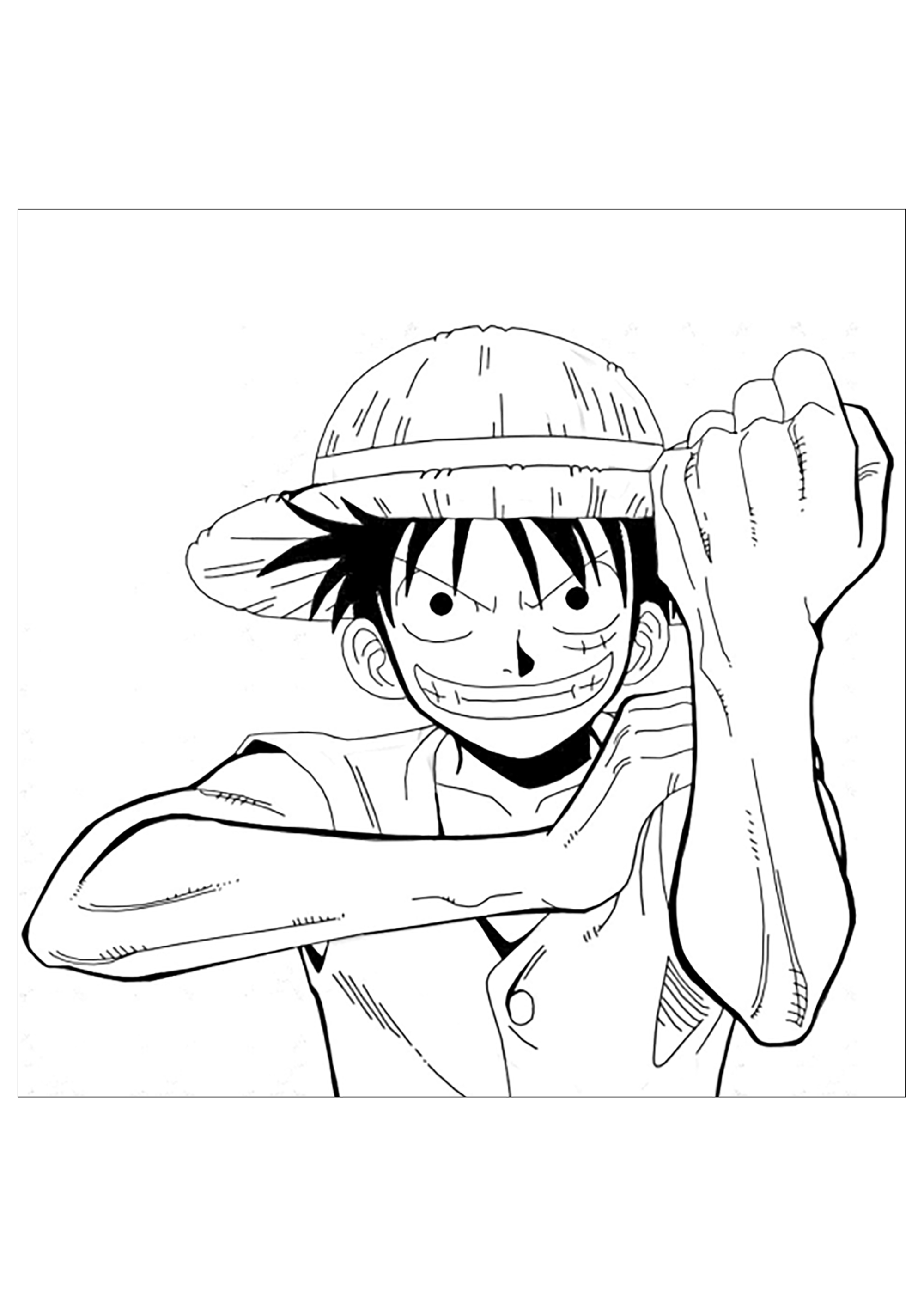Funny One Piece coloring page
