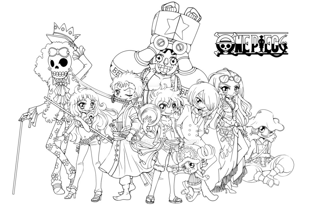 Printable One Piece coloring page to print and color