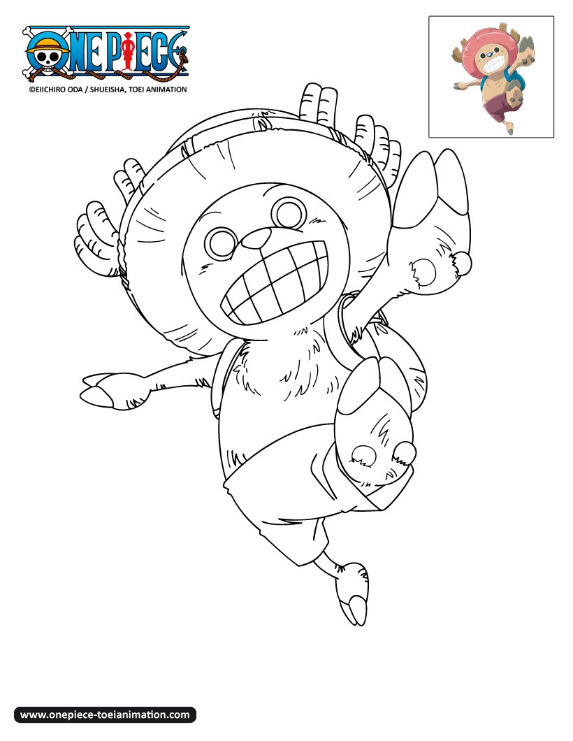 Simple One Piece coloring page to print and color for free