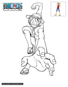 Coloring page one piece to color for kids