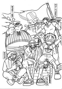 Coloring page one piece for kids
