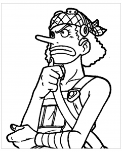 Coloring page one piece to download for free