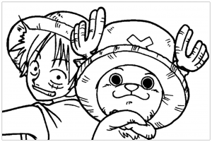 Coloring page one piece to color for children