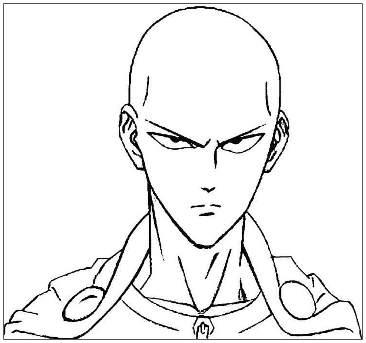 Simple One Punch Man coloring page