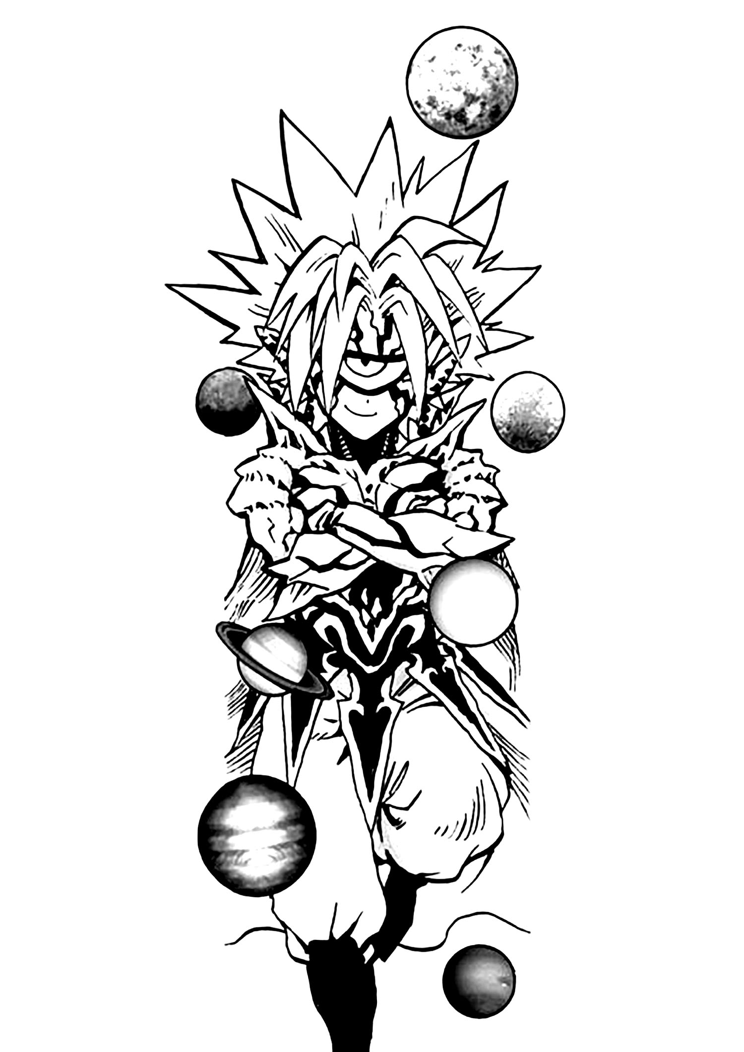 Funny One Punch Man coloring page for children