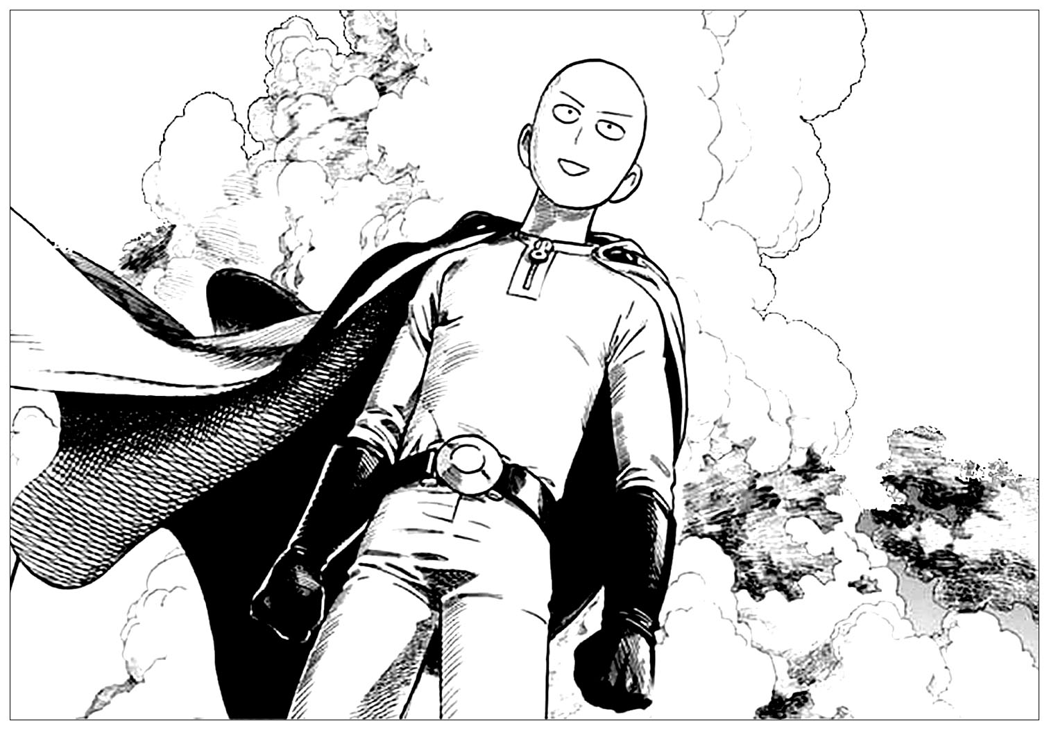 One Punch Man To Color For Children One Punch Man Kids Coloring