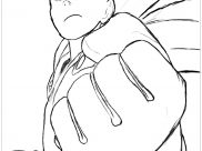 One Punch Man Coloring Pages for Kids