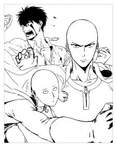 Coloring page one punch man to download for free