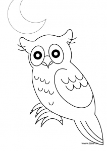 Coloring page owls free to color for children