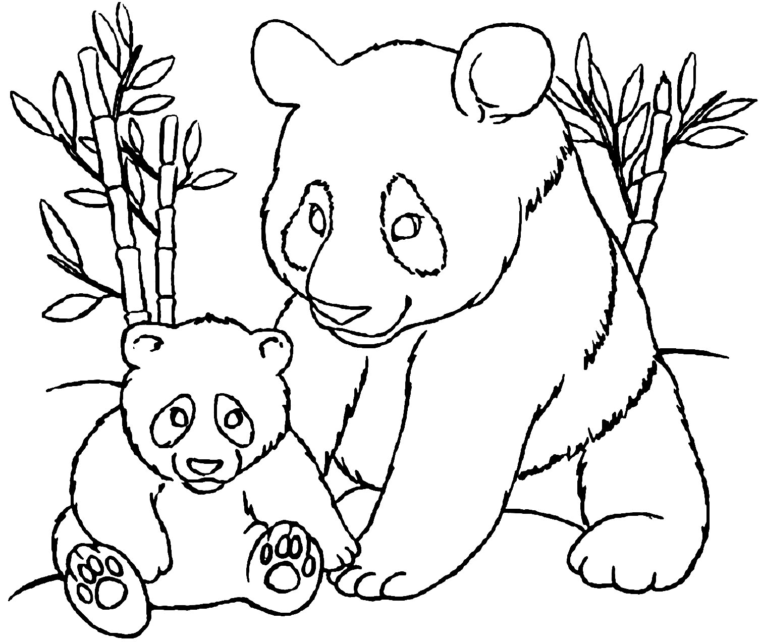 Pandas to print - Pandas Kids Coloring Pages