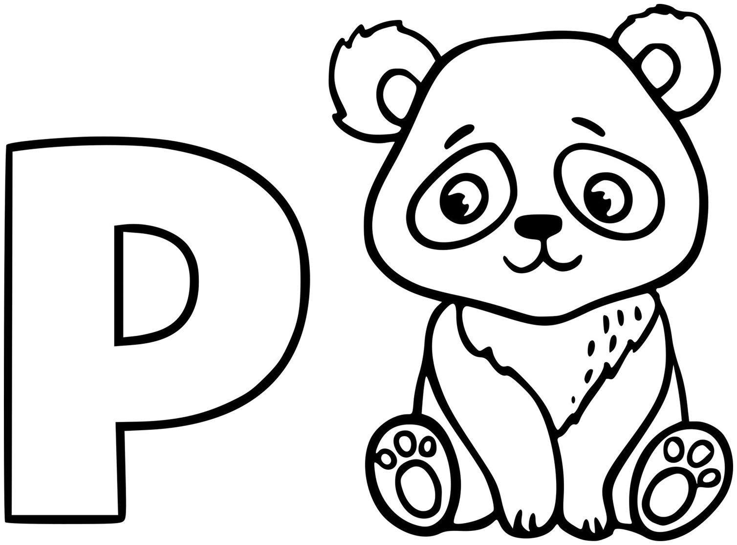Pandas to download for free - Pandas Kids Coloring Pages
