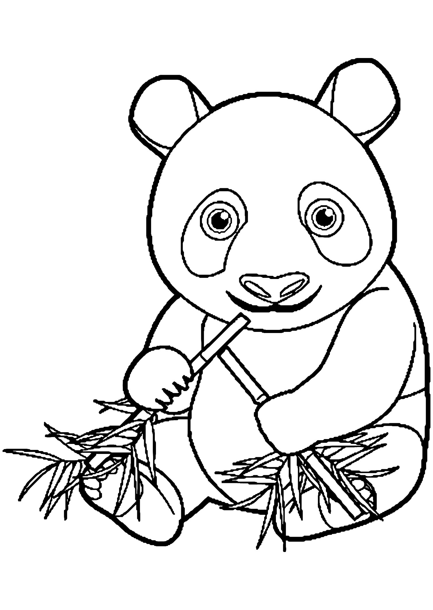 Pandas coloring page to print and color for free