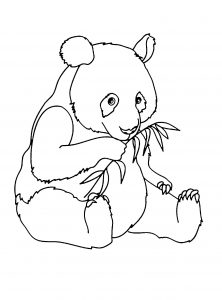 Coloring page pandas to download