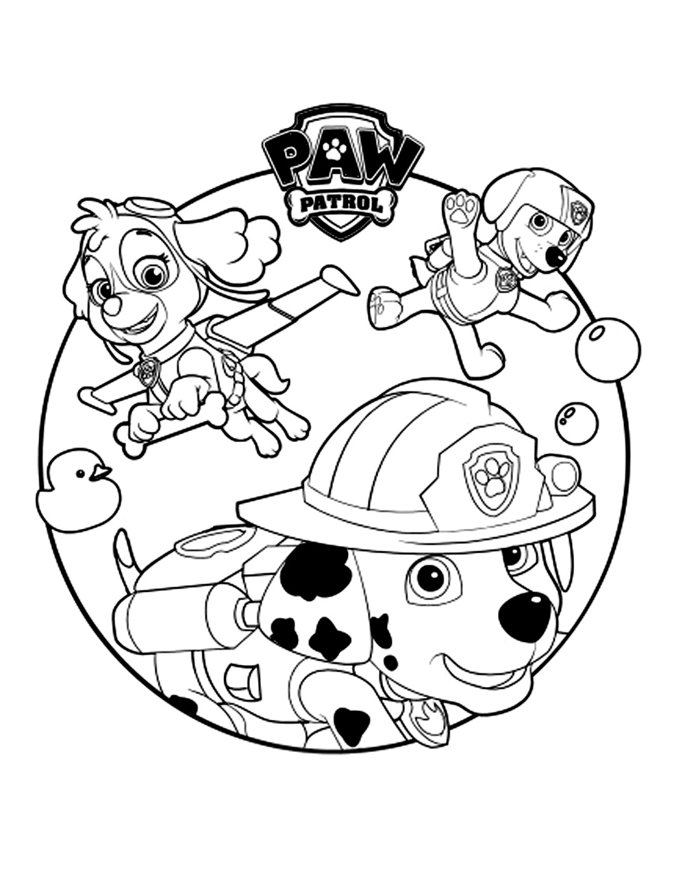 Paw Patrol To Print Paw Patrol Kids Coloring Pages