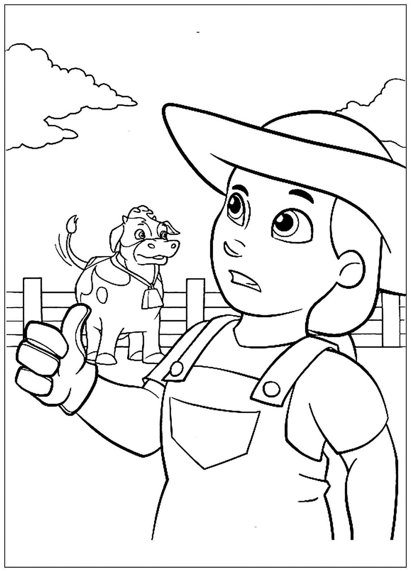 Free Paw Patrol coloring page to print and color