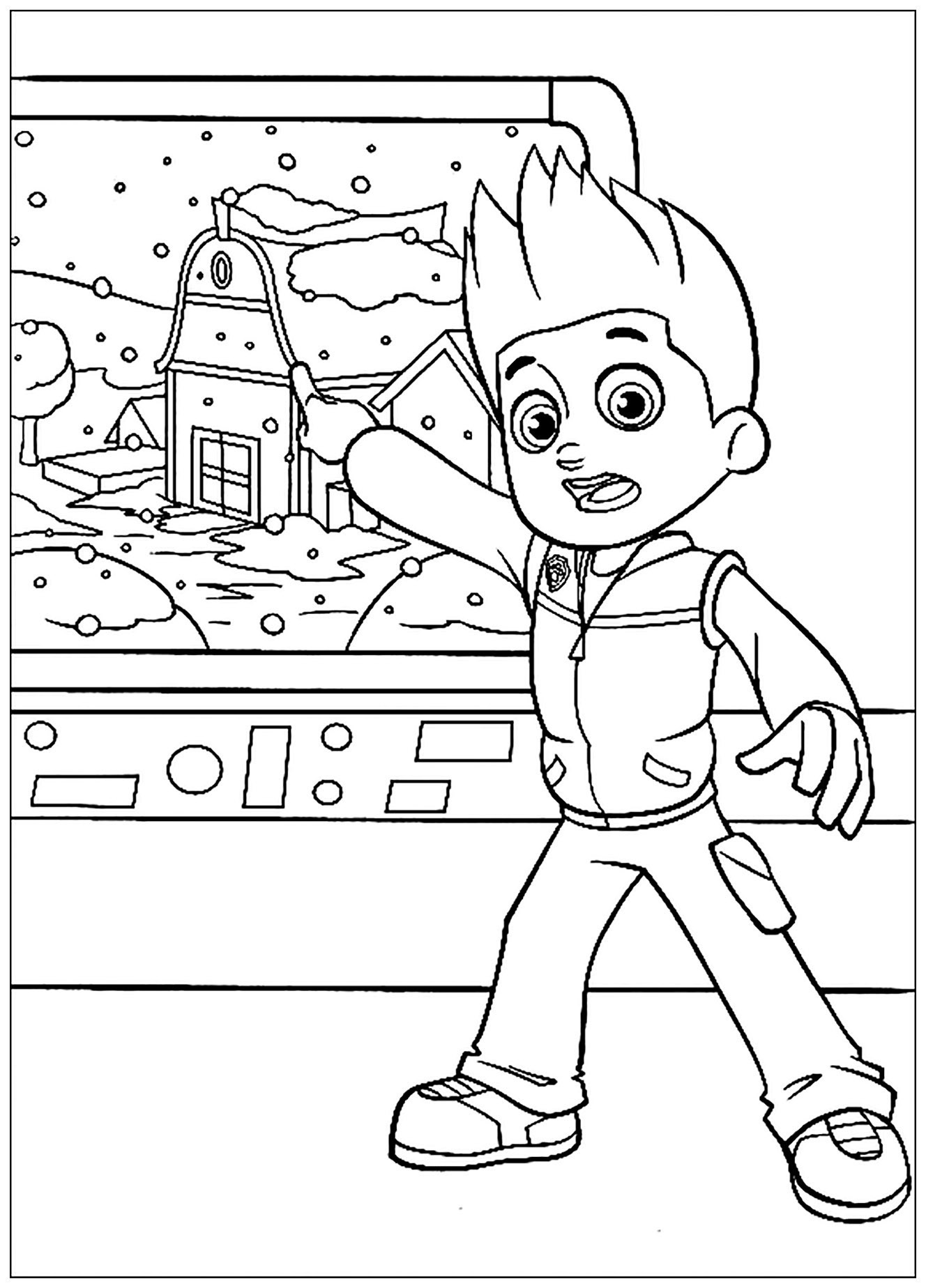 Paw Patrol coloring page to download for free