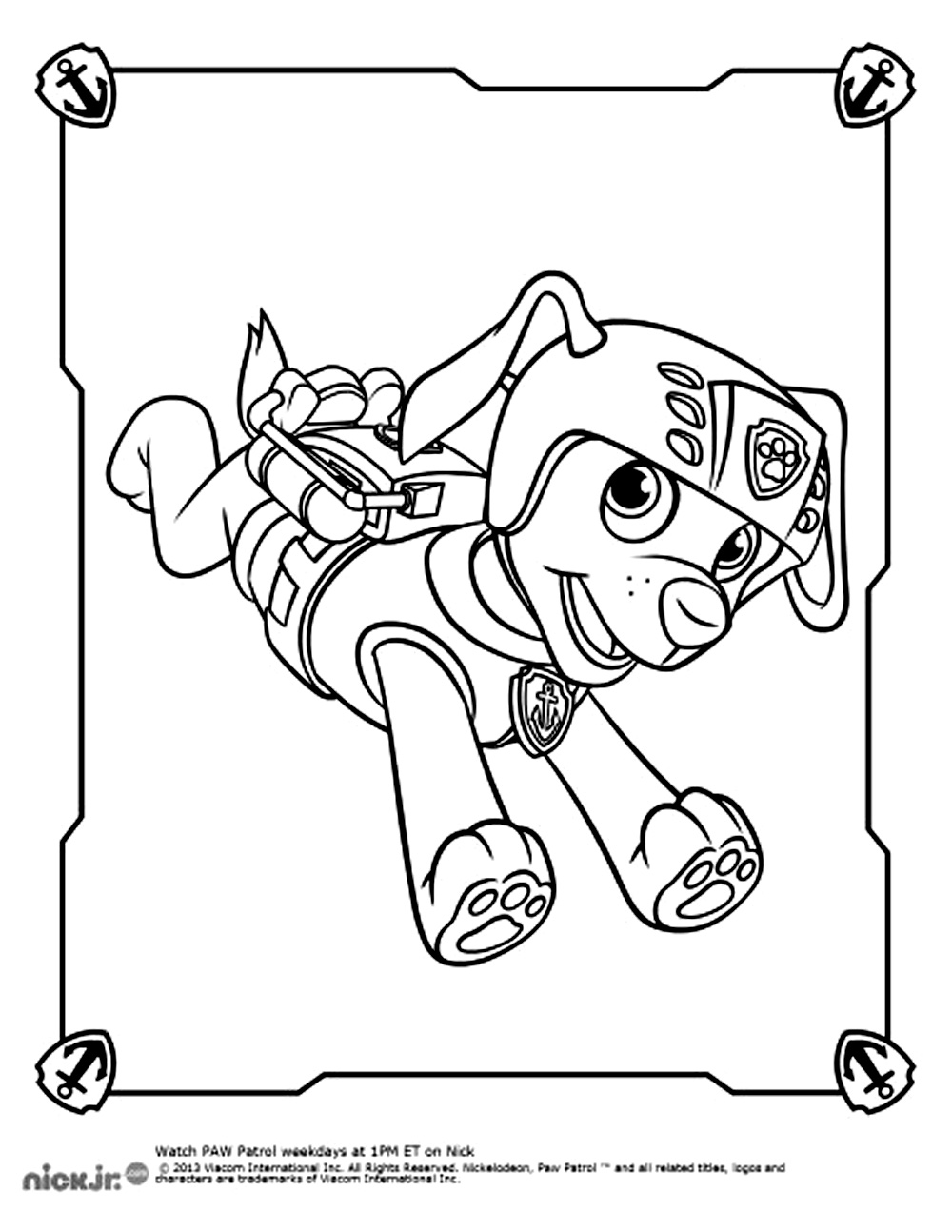 Paw Patrol For Kids Paw Patrol Kids Coloring Pages
