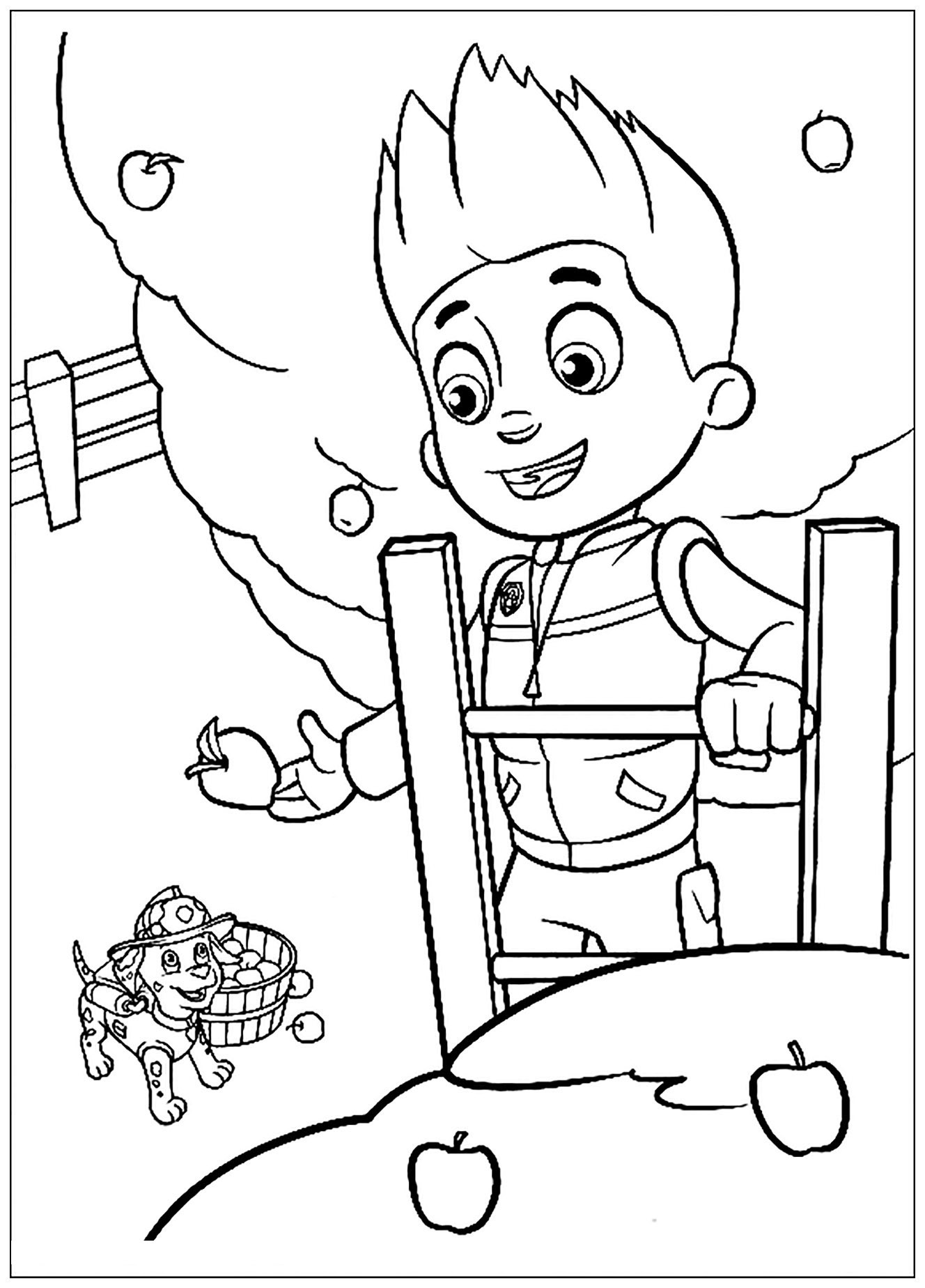 Paw Patrol coloring page to print and color