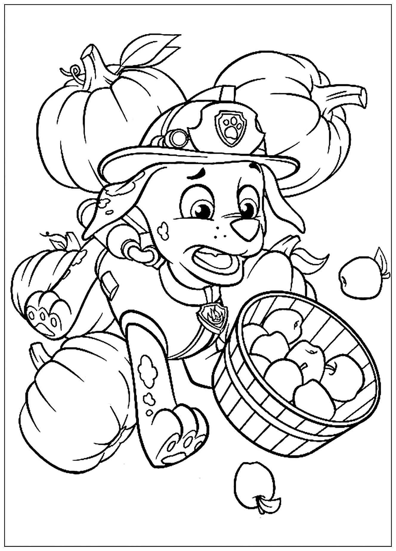 Paw patrol to print for free - Paw Patrol Kids Coloring Pages