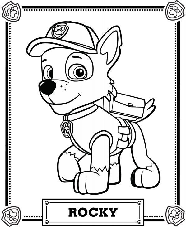 Paw patrol to color for children - Paw Patrol Kids Coloring Pages
