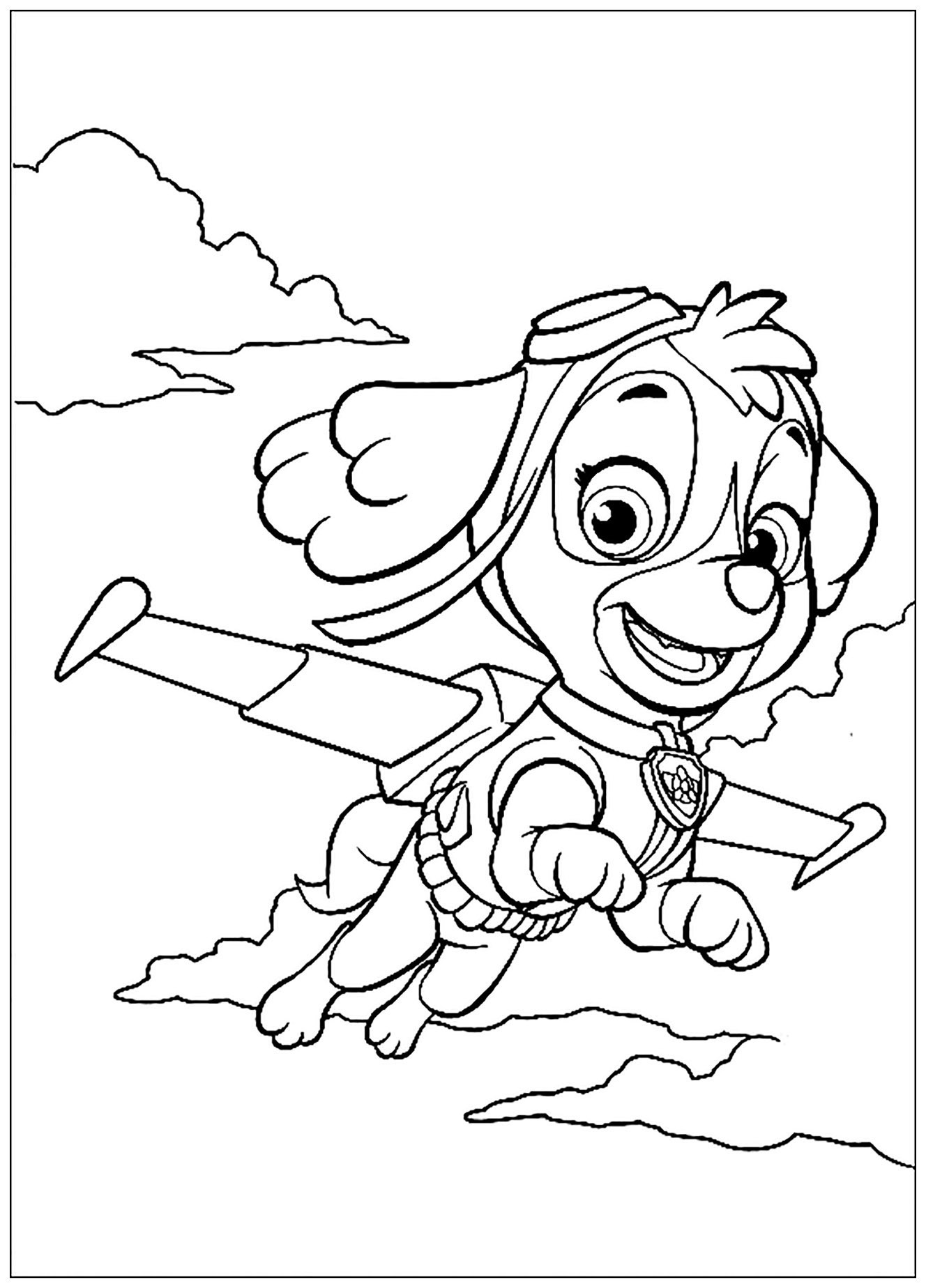 Beautiful Paw Patrol coloring page