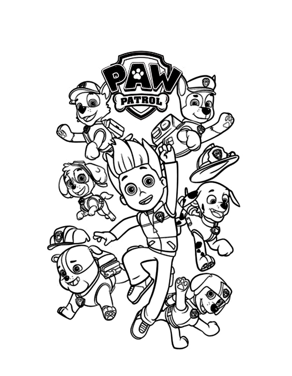 paw patrol kids coloring pages