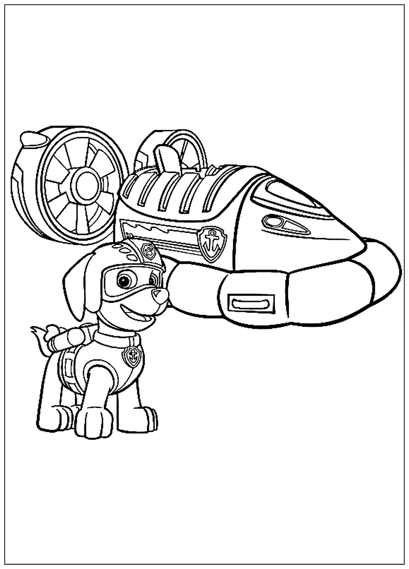 Malvorlagen Tv: Paw Patrol Kids Coloring Pages