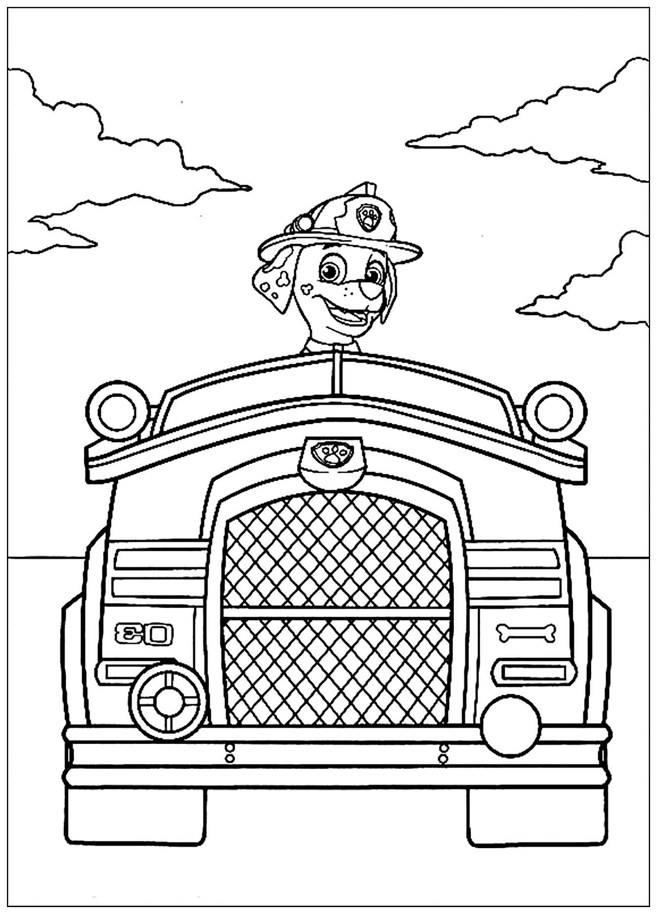 Paw Patrol coloring page to download