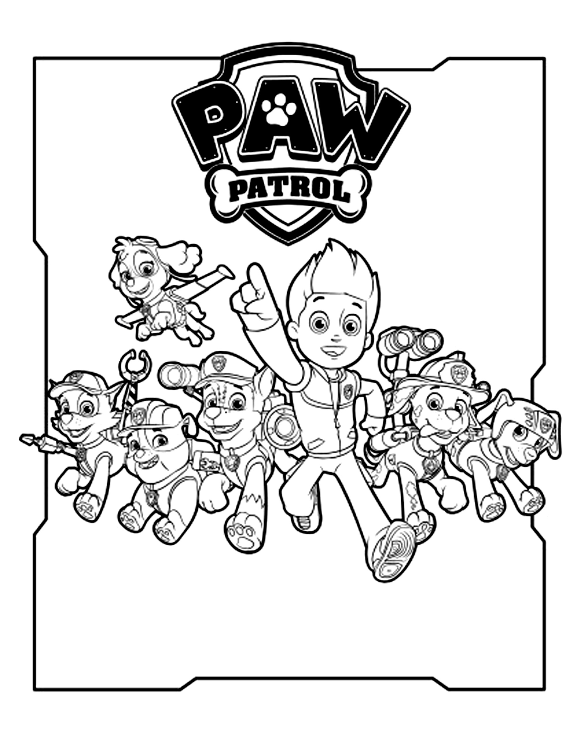 Paw Patrol Free To Color For Kids Paw Patrol Kids Coloring Pages